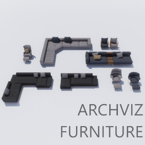 A pack of 4 Sofas and 5 Armchairs with the HQ textures and materials!