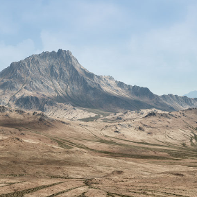 A large scale (64 Square Kilometers) high quality and realistic arid mountain range aiming to instantly turn your project into a triple A looking game.