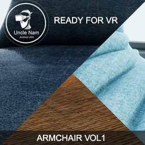 Armchair Vol. 1 ( All asset was created for Archviz and VR - 18 armchair )