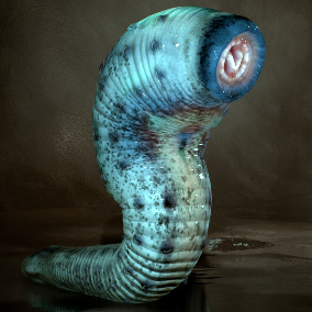 Armored Leech with 30 Animations
