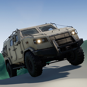Customizable, driveable military vehicle with lights and sound