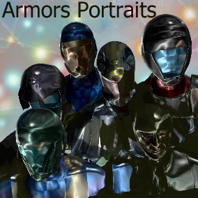 Sci-Fi Armors Portraits Images and Icons Set Pack