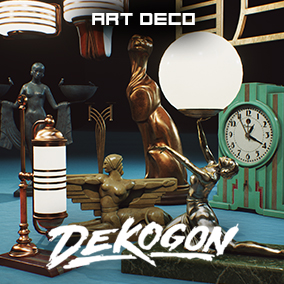 A collection of art deco inspired and designed decorations and lighting!
