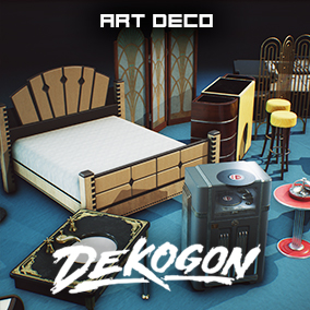 A collection of art deco inspired and designed various props!