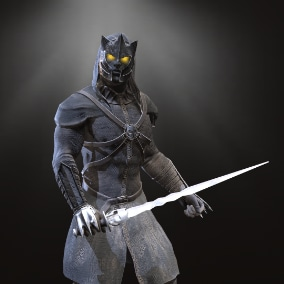 Low-pole model of the character Assasin of pain.