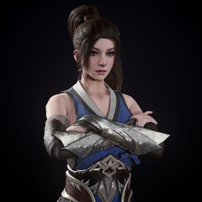 Assassin woman for your games