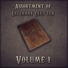 The first small pack of Literary items. This volume focuses on a vintage/rustic theme.