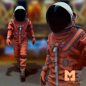 Hello, I present to you a great astronaut pilot character.