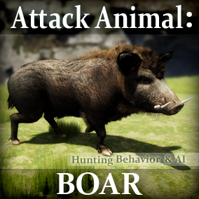 Animals for your game environments by Living Systems. Add interactive Wild Boar to your game environments. Built in enemy detection and hunting behavior, drag and drop easy.