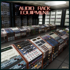"""Replica of audio processing units present in the best audio recording, processing and production studios. Use it in other scenarios that are not dedicated to audio according to your imagination. This is part of the """"studio audio production"""" package."""
