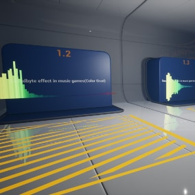Audio visualization in music games