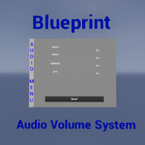 Drop your audio files and adjust the volume via Widget Blueprint