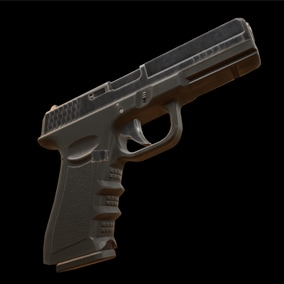 Game ready pistol with effects, sounds, character FPS and TPS animations