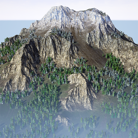 automatic and procedural landscape material pack that is also editable by hand and features tessellation
