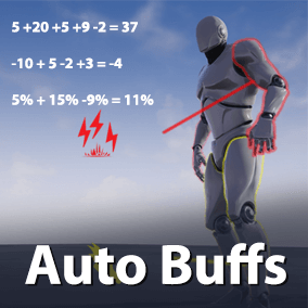 An actor component that can be added to actors to automaticly manage buffs and stats with modifier values created locally or sent from other actors.