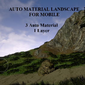 3 automatic landscape materials, 1 layer, everything is fast and easy.