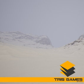 Automatic Landscape Material and 4 tree meshes