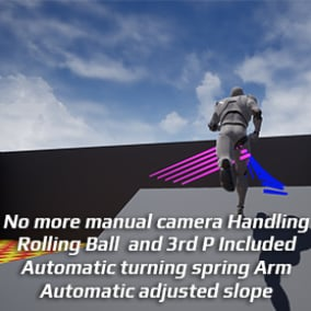 Automatic turning Camera with Rolling Ball & Third Person Template