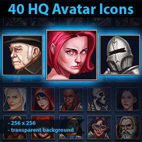 40 HQ Character Icons