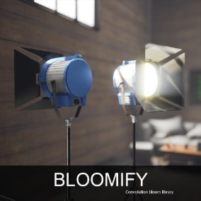 10 custom generated convolution kernel bloom textures part of a modular studio, that will help you achieve graphical realism on new levels. Add beautiful bloom post effects in your projects with Bloomify.
