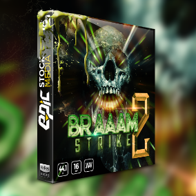 Gain a producer's essential movie trailer sound effects library – BRAAAM Strike 2. Explore the depths of deep cinematic synth bass impacts, stingers, and droning hits.