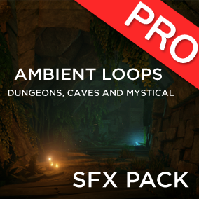 The Ambient Loops: Dungeons, Caves and Mystical sound pack features 15 high quality SFX