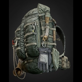 A Unique Package of Bags, Backpack & Survival Kit, Includes Highly Detailed Props.