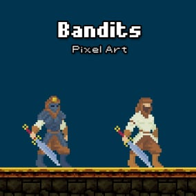 2D Animated Pixel Art Character