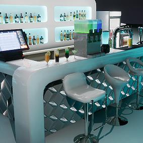 Bar props for a nightclub, lounge bar, or pub.