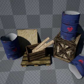 Ready to use Barrels, Woods & Crates For FPS & TPS Games