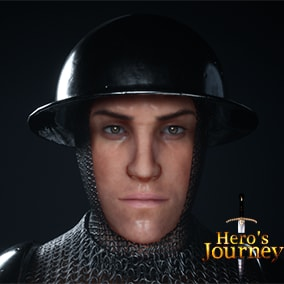 Triple A Male character with ton of shader based customization realistic hairstyle ready to be used as your hero character or npc
