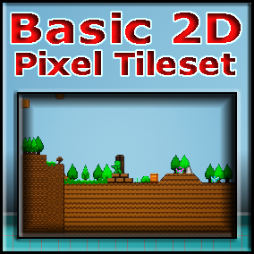 """A basic 2d pixel tileset with some extras and a """"download and play ready"""" project"""