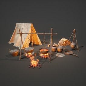 Realistic BasicCamping Set