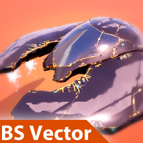A playable spaceship with customizable materials, sounds, and particle effects.