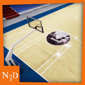 Basketball assets as a base for a basketball game.