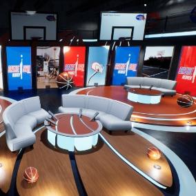 Modular Basketball Heaven Studio with additional studio props, including a fully built sport studio scene.