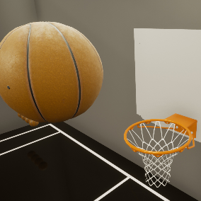 First person basketball template fully interactive and reactive with environment using physics
