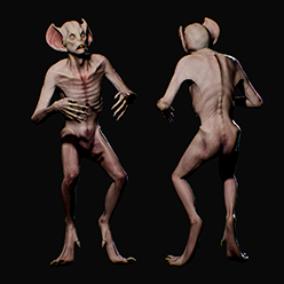 Evil humanoid creature Bat Vampire
