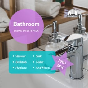 A collection of 193 bathroom sound effects.