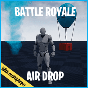 This asset adds Air Drop that is used in Battle Royale games(like FNBR, PUBG, etc).