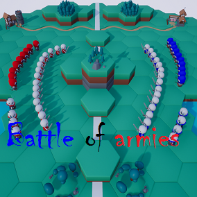 The deployment of armies and their subsequent battle.