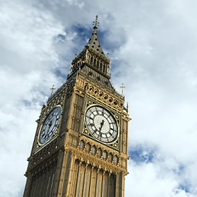 The collection includes a photo-realistic clock tower model inspired by Big Ben in London.