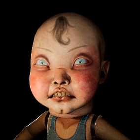 BigHead doll character with Epic skeleton and facial morphs.