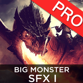 The Big Monsters / Creatures SFX 1 sound effects pack features 11 high quality sounds