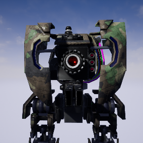 Optimized big robot with 4 step LOD. Animations included.