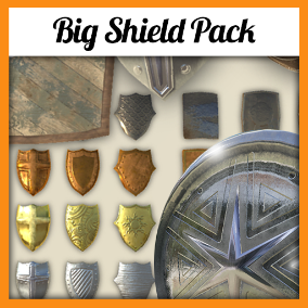 60 different shields, ready to use in your project!