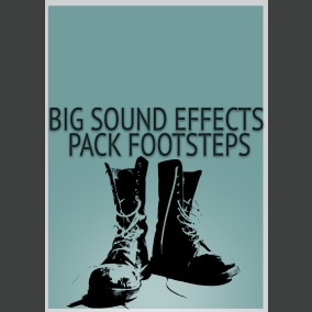 Big Sound Effects Pack Footsteps contains 4 packs 1790 sounds