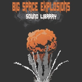Big Space Explosions Sound Library contains 102 sounds
