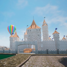 Amusement park for your VR or other project.