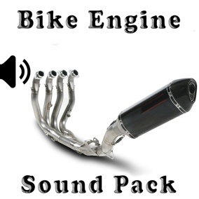 Bike Engine Sound Pack asset contain engine sound wav files.